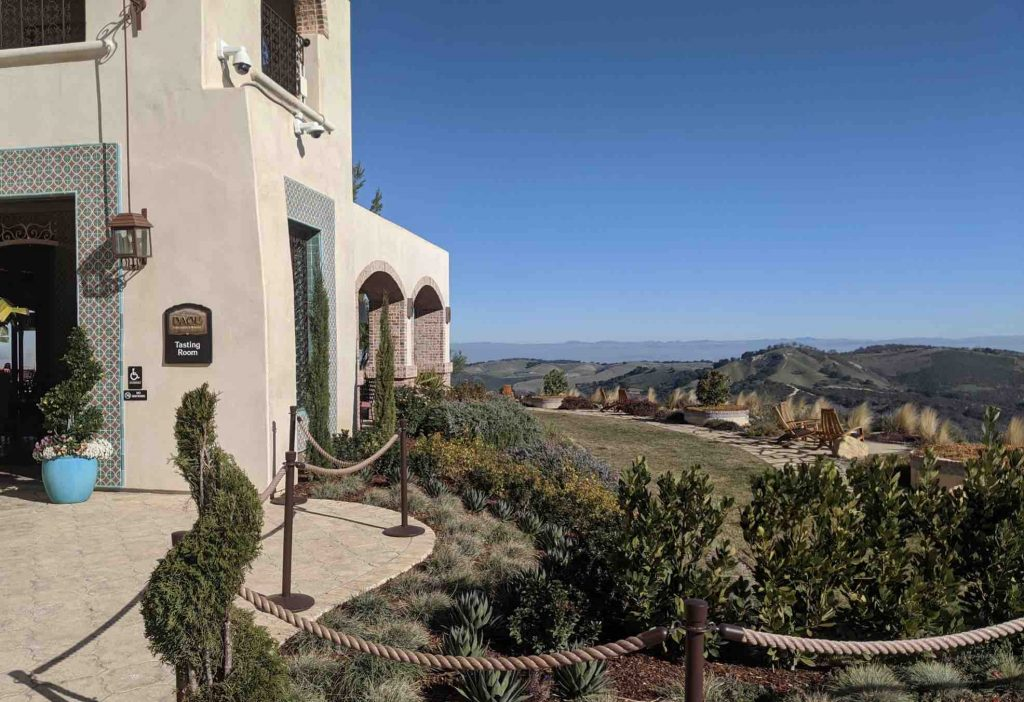 View from the tasting room entrance on top of Daou Mountain